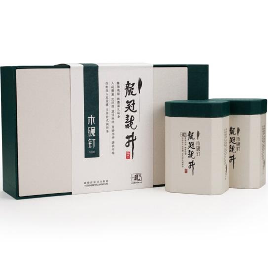 2018新茶西湖龙冠龙井绿茶雨前龙井茶叶木碗钉1000一级200g 春茶礼盒装
